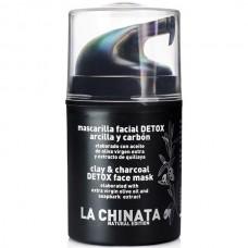 Clay & Charcoal Detox Face Mask 'Natural Edition' - La Chinata (50 ml)