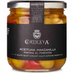 Manzanilla Olives with Garlic & Red Pepper - La Chinata