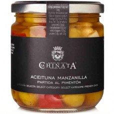 Manzanilla Olives with Garlic & Red Pepper - La Chinata