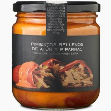 Piquillo Peppers Stuffed with Tuna & Piparras - La Chinata (300 g)