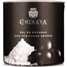 Sea Salt Crystals 'Black Olives' - La Chinata (165 g)