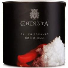 Sea Salt Crystals 'Chilli' - La Chinata (165 g)